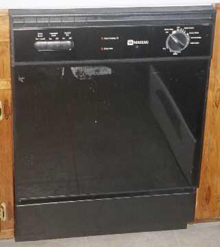 Dishwasher: Maytag dishwasher with temperature boost wash.